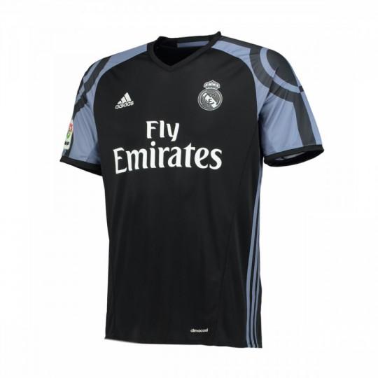 Camiseta  adidas Real Madrid 3ª equipación 2016-2017 Black-Super purple