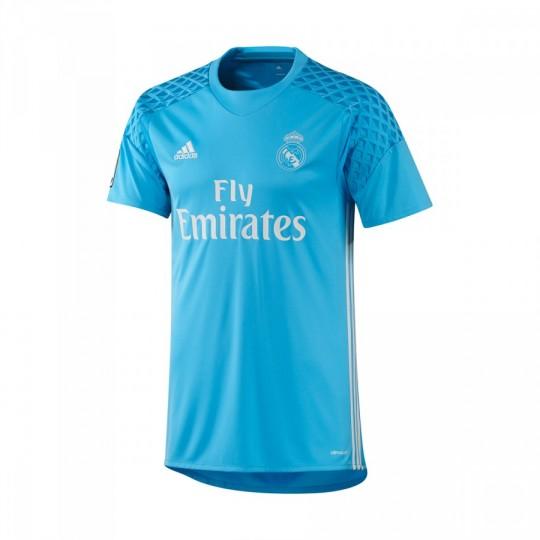 Camiseta  adidas Real Madrid Primera Equipación Portero 2016-2017 Bright cyan-Crystal white