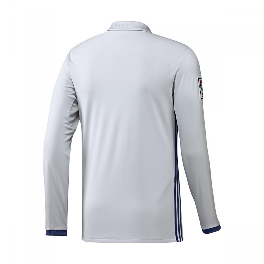 afbd026c66 Camiseta adidas Real Madrid Primera Equipación Manga Larga 2016-2017  Crystal white-Raw purple - Soloporteros es ahora Fútbol Emotion