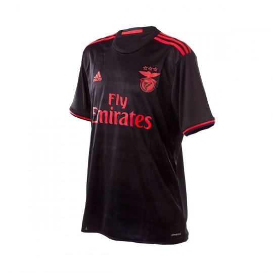 Camisola  adidas SL Benfica Alternativo 2016-2017 Black-Bright red
