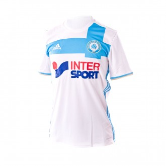 Camiseta  adidas Olympique de Marsella Primera Equipación 2016-2017 White-Blue-Light glod