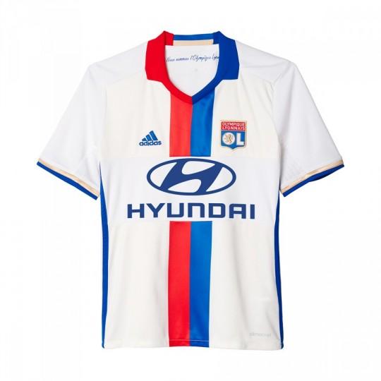 Camiseta  adidas Olympique de Lyon Primera Equipación 2016-2017 White-Collegiate royal-Red