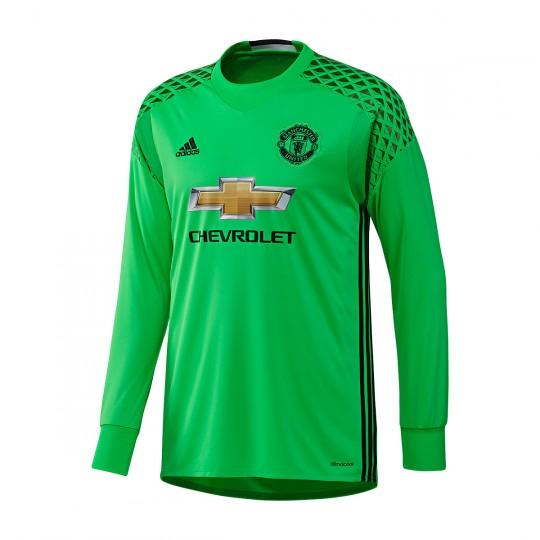 Camiseta  adidas Manchester United Segunda Equipación Portero 2016-2017 Solar slime-Black