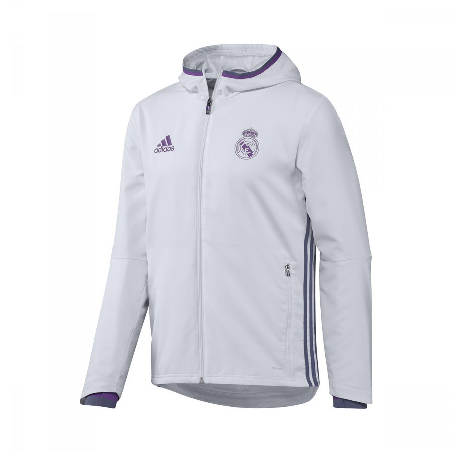 b0b726502 Chaqueta adidas Real Madrid Pre-Match 2016-2017 Crystal white-Raw purple -  Tienda de fútbol Fútbol Emotion