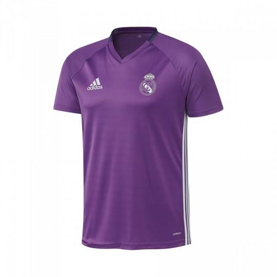 Camiseta  adidas Real Madrid Pre-Match 2016-2017 Ray purple-Crystal white
