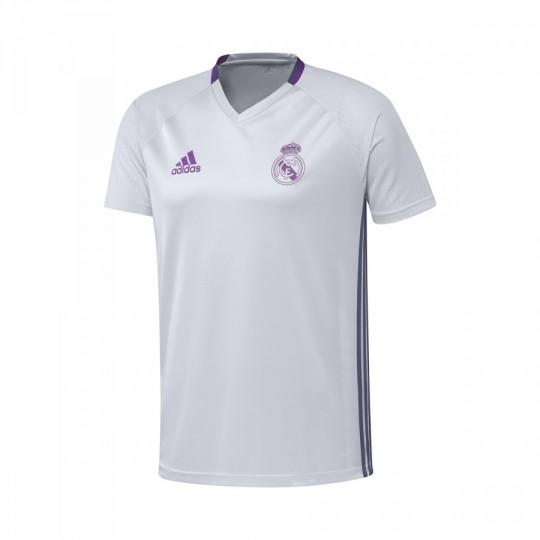 Camiseta  adidas Real Madrid Pre-Match 2016-2017 Crystal white-Raw purple
