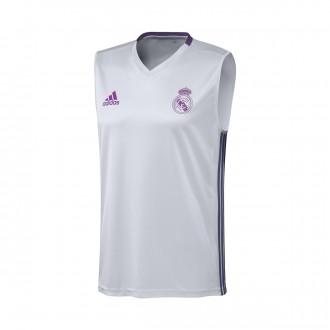 Camiseta  adidas Tirantes Real Madrid Pre-Match 2016-2017 Crystal white-Raw purple