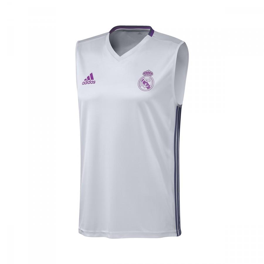 ... Camiseta Tirantes Real Madrid Pre-Match 2016-2017 Crystal white-Raw  purple. Categorías de la Camiseta 01fe73685e75d
