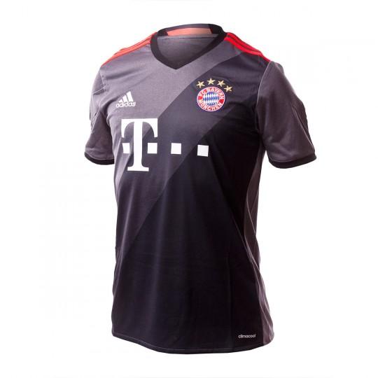 Camiseta  adidas FC Bayern de Munich Away 2016-2017 Granite-Solid grey-Black