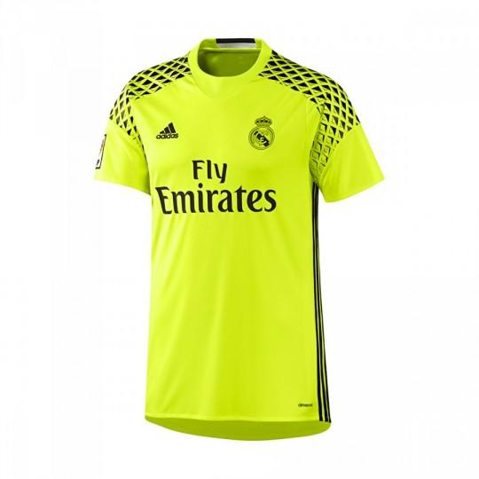 Camiseta  adidas Real Madrid Segunda Equipación Portero 2016-2017 Solar yellow-Black