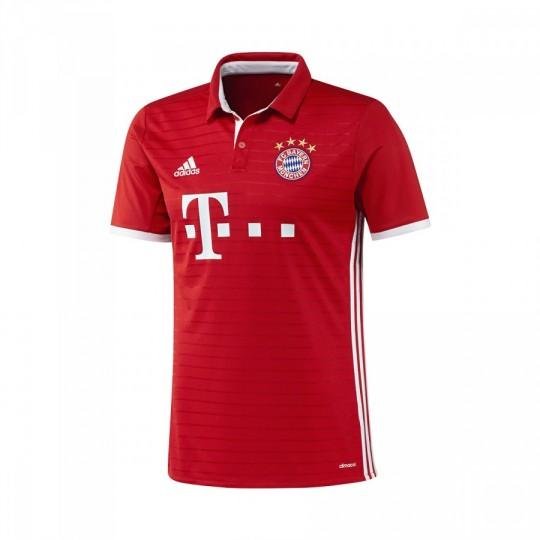 Camisola  adidas Jr FC Bayern de Munich Principal 2016-2017 True red-White