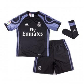 Conjunto  adidas Real Madrid Tercera Equipación mini 2016-2017 Niño Black-Super purple
