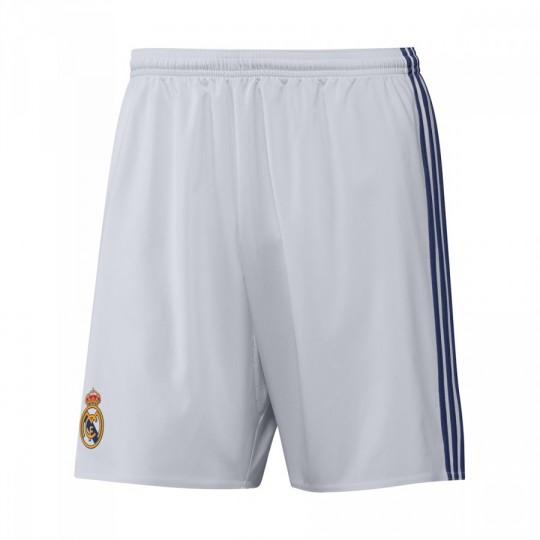 Pantalón corto  adidas jr Real Madrid Home 2016-2017 Crystal white-Raw purple