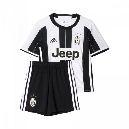 Conjunto  adidas jr Juventus Home 2016-2017 Bebé White-Black