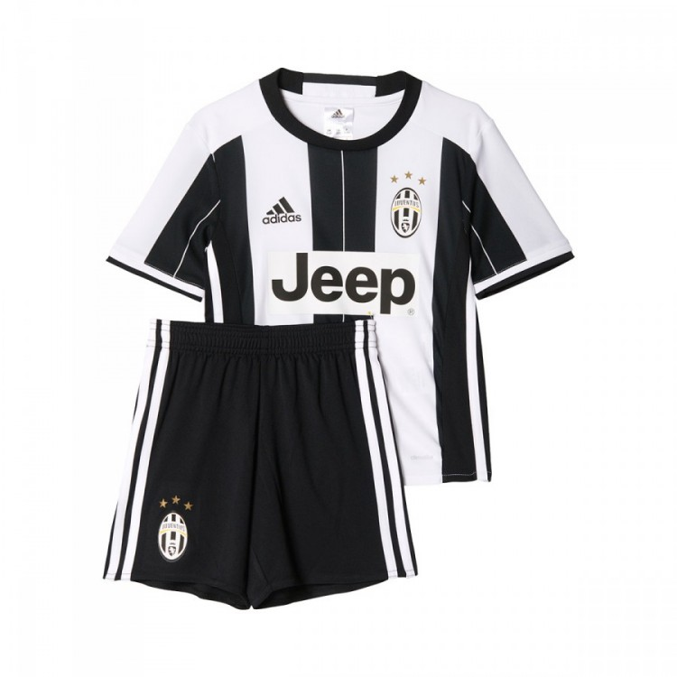 15c1baeb638 Kit adidas Jr Juventus Home 2016-2017 Bebé White-Black - Football ...