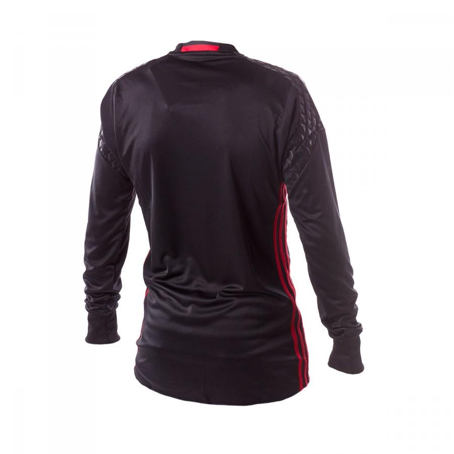 adidas Jr Manchester United Home Portero 2016-2017 Jersey. Black-Real red  ... e2b82a033e879