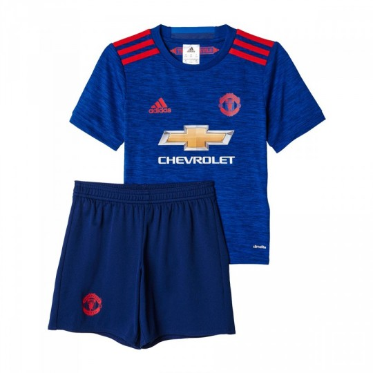 Conjunto  adidas jr Manchester United Away 2016-2017 Bebé Collegiate royal-Real red