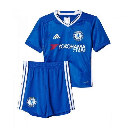 Conjunto  adidas jr Chelsea FC Home mini 2016-2017 Blue-White