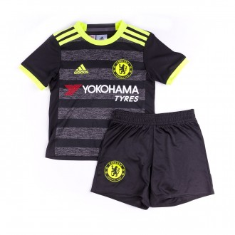 Conjunto  adidas Jr Chelsea FC Alternativo mini 2016-2017 Black-Solar yellow-Granite