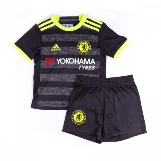 Conjunto  adidas Chelsea FC Segunda Equipación mini 2016-2017 Niño Black-Solar yellow-Granite