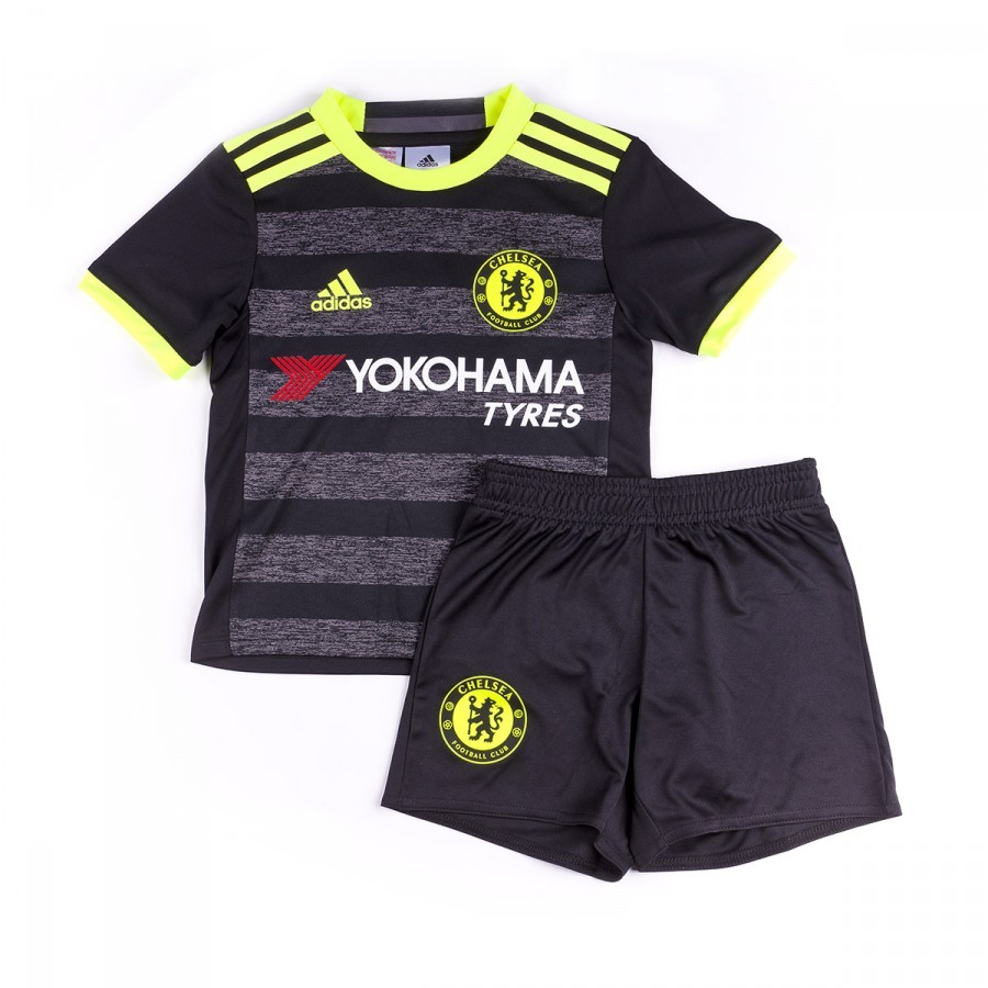 29ff2e304fb adidas Jr Chelsea FC Away mini 2016-2017 Kit. Black-Solar yellow-Granite ...