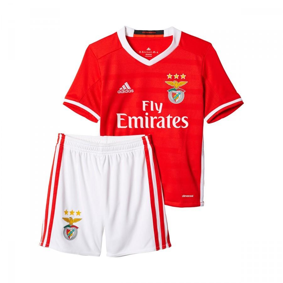 7c07f43c572cd Conjunto adidas SL Benfica Primera Equipación 2016-2017 Niño Red-White -  Tienda de fútbol Fútbol Emotion
