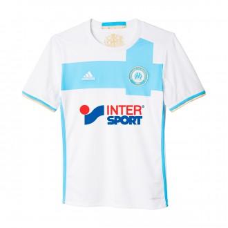 Camiseta  adidas Olympique de Marsella Primera Equipación 2016-2017 Niño White-Blue-Light glold