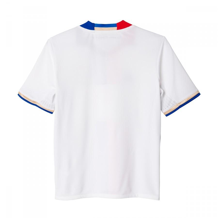 new arrival 601d9 af098 Camiseta adidas Olympique de Lyon Primera Equipación 2016-2017 Niño White-Collegiate  royal-Red - Soloporteros es ahora Fútbol Emotion