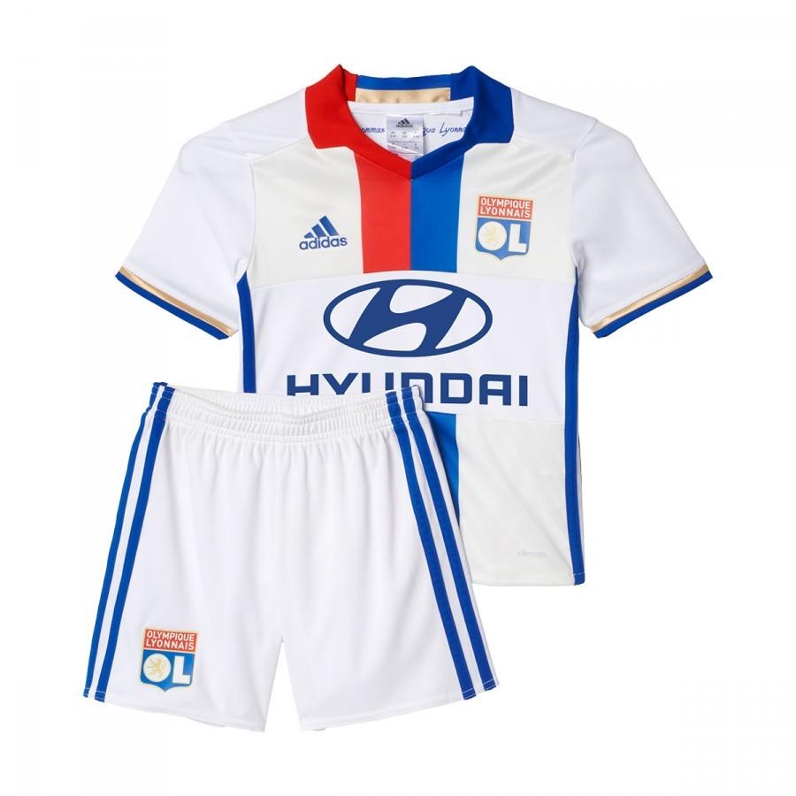 b120cbbd96a8d Conjunto adidas Jr Olympique de Lyon Principal 2016-2017 Bebé  White-Collegiate royal-Red - Loja de futebol Fútbol Emotion
