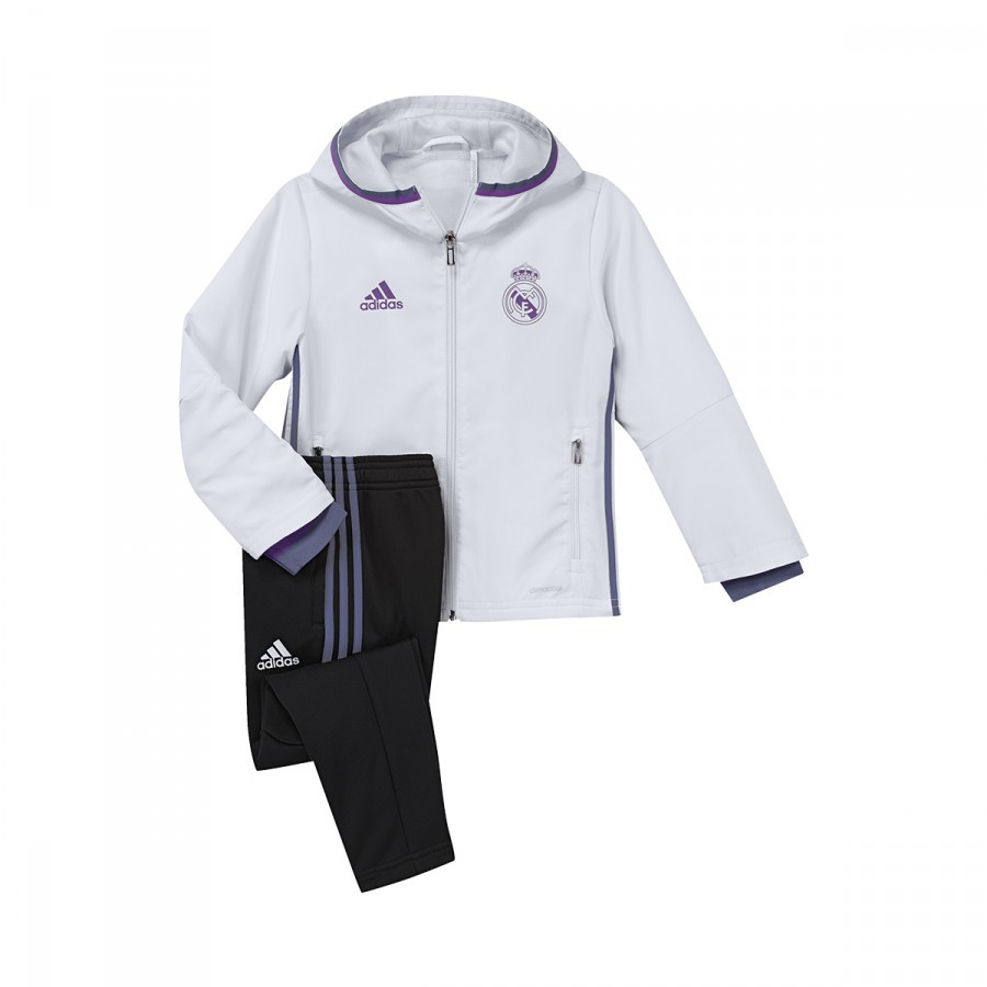 Chándal adidas Real Madrid 2016-2017 Niño Crystal white-Raw purple -  Soloporteros es ahora Fútbol Emotion 8521197218e14