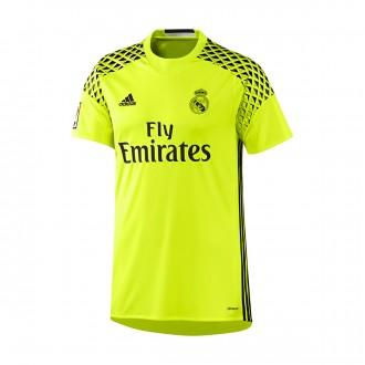 Camiseta  adidas Real Madrid Segunda Equipación Portero 2016-2017 Niño Solar yellow-Black