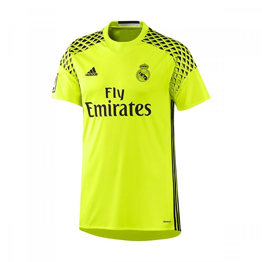 0156b9ef80c3c Camiseta adidas Real Madrid Segunda Equipación Portero 2016-2017 Niño Solar  yellow-Black - Tienda de fútbol Fútbol Emotion