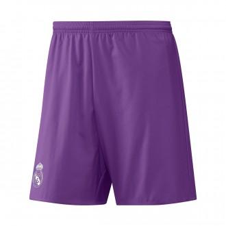 Pantalón corto  adidas Real Madrid Segunda Equipación 2016-2017 Ray purple-Crystal white