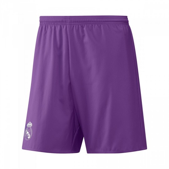 Pantalón corto  adidas Real Madrid Away 2016-2017 Ray purple-Crystal white
