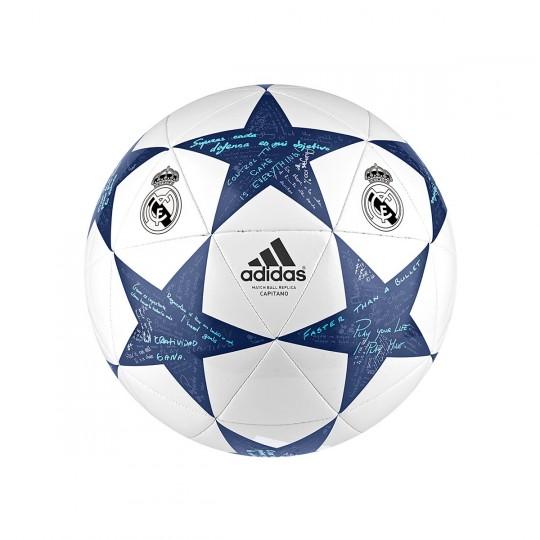 Balón  adidas Finale 16 Capitano Real Madrid White-Super purple