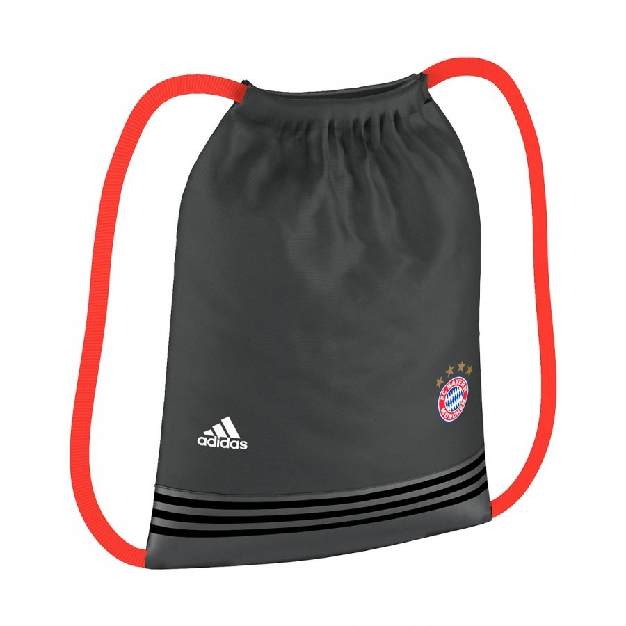 Bag adidas Gymsack FC Bayern de Munich 2016-2017 Solid grey-Solar red -  Football store Fútbol Emotion 7924c43ba0a86