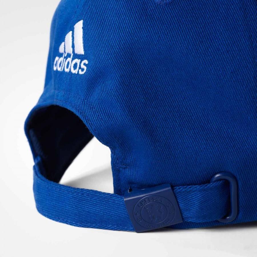 8fadfe89b9685 Cap adidas Stripes 3S Chelsea 2016-2017 Blue-White - Football store Fútbol  Emotion