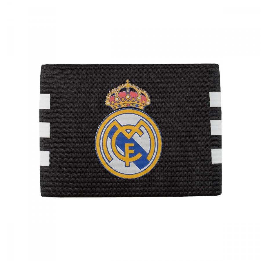 3f0f3f64ae23a Braçadeira Capitão adidas Real Madrid 2016-2017 Black-White - Loja de  futebol Fútbol Emotion