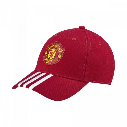 Gorra  adidas Stripes 3S Manchester United Real red-White