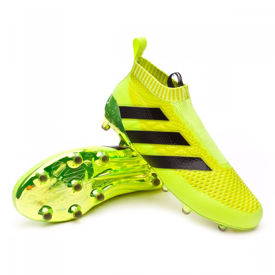 robo Metropolitano Dedos de los pies  Football Boots adidas Ace 16+ Purecontrol Solar yellow-Silver metallic -  Football store Fútbol Emotion