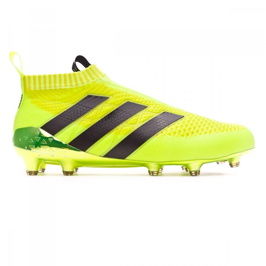 Nutrición orgánico templar  Football Boots adidas Ace 16+ Purecontrol Solar yellow-Silver metallic -  Football store Fútbol Emotion