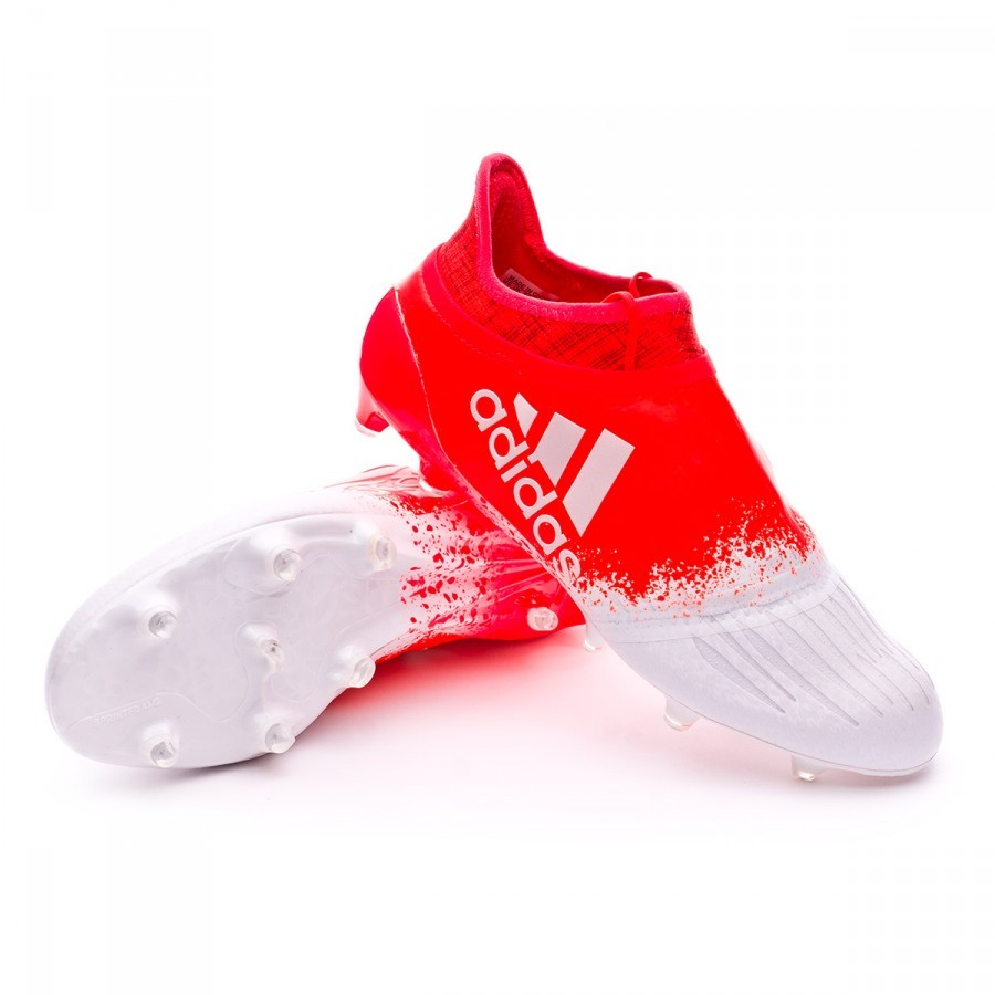 Boot adidas X 16 Purechaos FG Women White-Solar red - Football store Fútbol Emotion