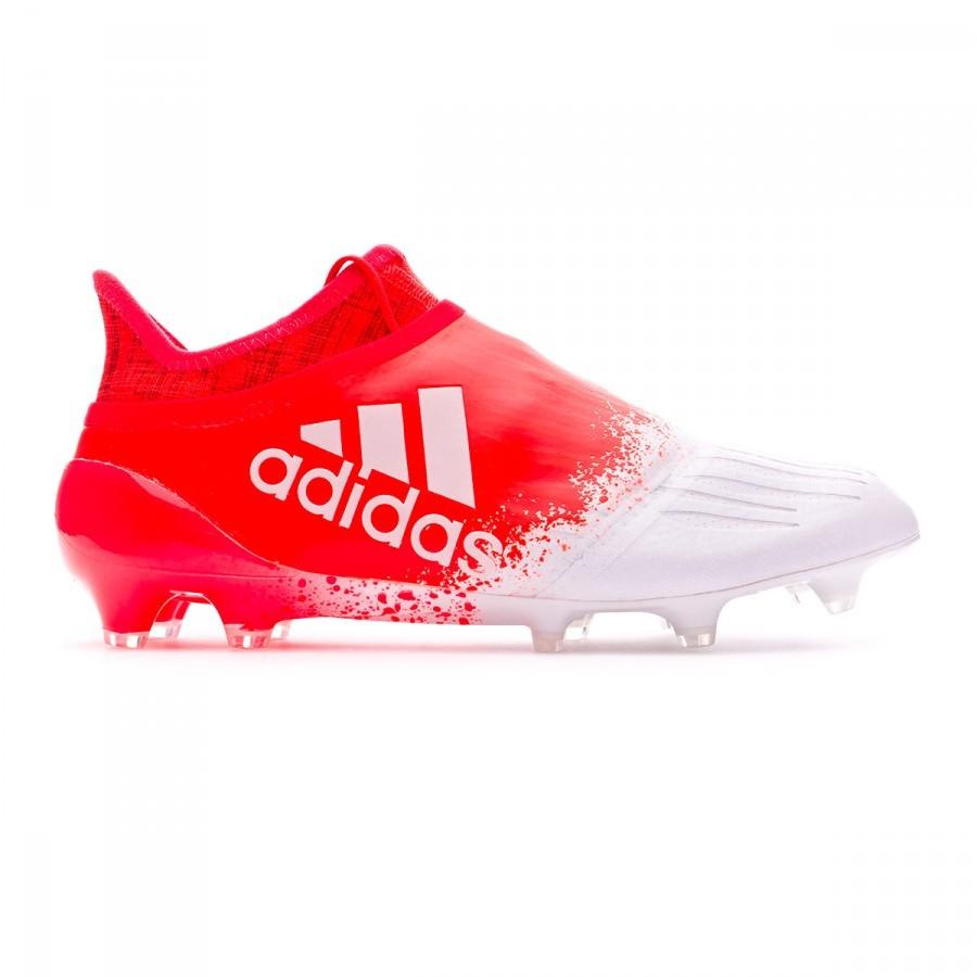faf8d9229 Football Boots adidas X 16+ Purechaos FG Women White-Solar red - Football  store Fútbol Emotion