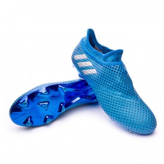 Messi 16+ Pureagility FG Shock blue-Silver metallic-Black