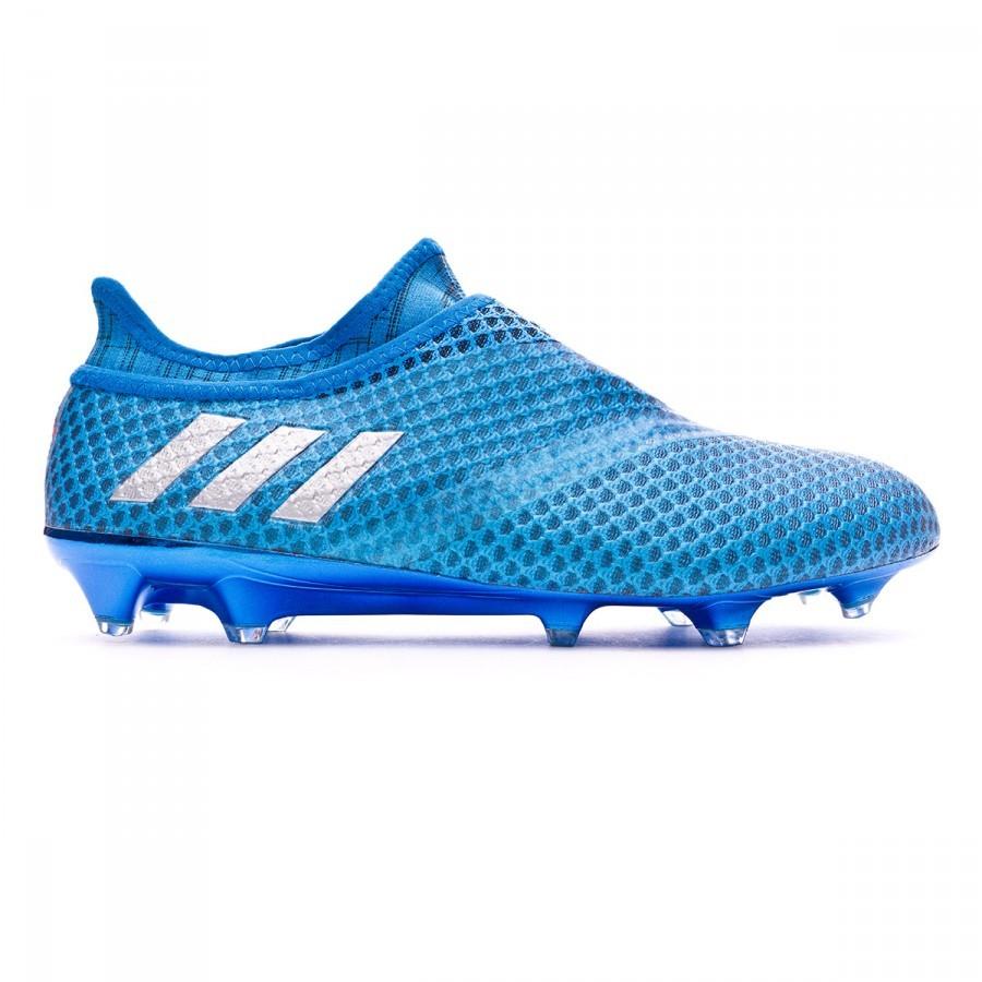 big sale c62fd 6b4d2 Football Boots adidas Messi 16+ Pureagility FG Shock blue-Silver metallic- Black - Football store Fútbol Emotion