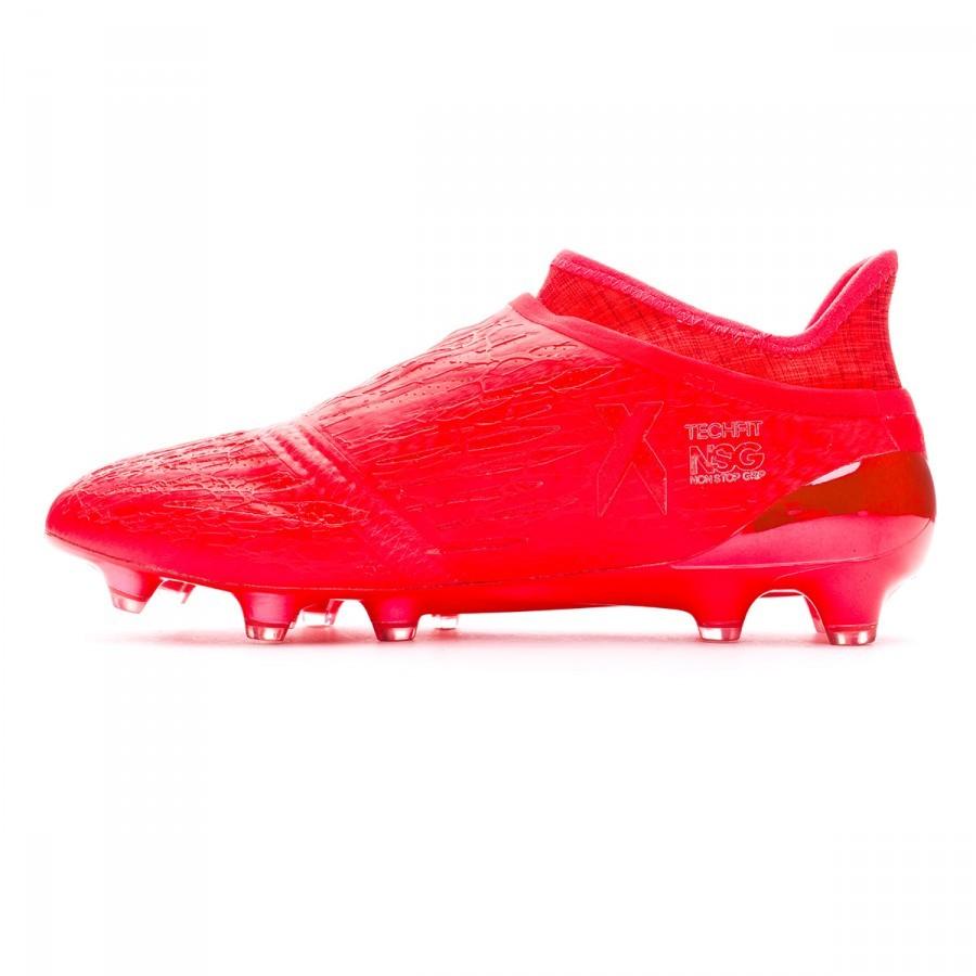 Boot adidas X 16+ Purechaos FG Solar red-Silver metallic - Football ... 1efd08337d053