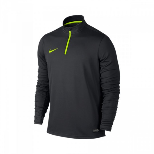 Sudadera  Nike Academy Midlayer Anthracite-Volt