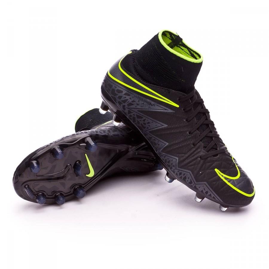 23ed4696d609 Football Boots Nike Jr HyperVenom Phantom II ACC FG Black-Metallic  Hematite-Volt - Football store Fútbol Emotion