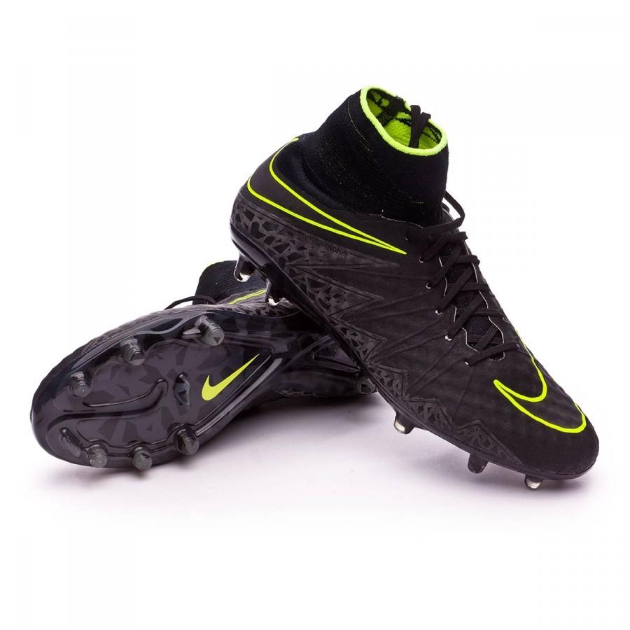 99b679c8853d1 Football Boots Nike HyperVenom Phantom II ACC FG Black-Volt ...