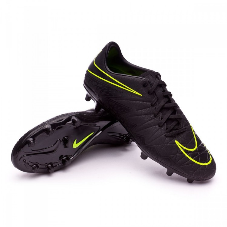6e8079f5d469 Football Boots Nike HyperVenom Phelon II FG Black-Volt - Football ...
